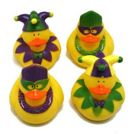 One Dozen (12) Rubber Duckie Ducky Duck MARDI GRAS Party Favors - Daisy Duck Party Supplies