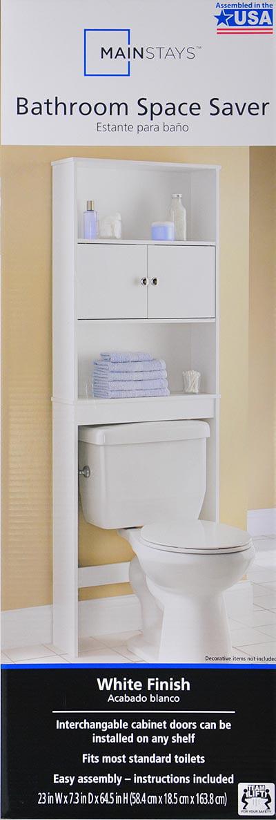 Mainstays White Spacesaver Wood - Bright Bathroom