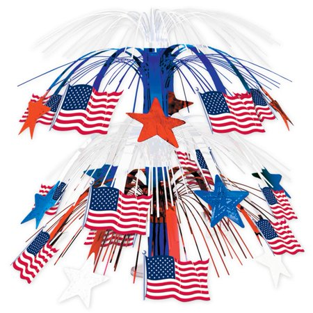 Patriotic Star Print Cascade Centerpiece (Rock Star Centerpieces)