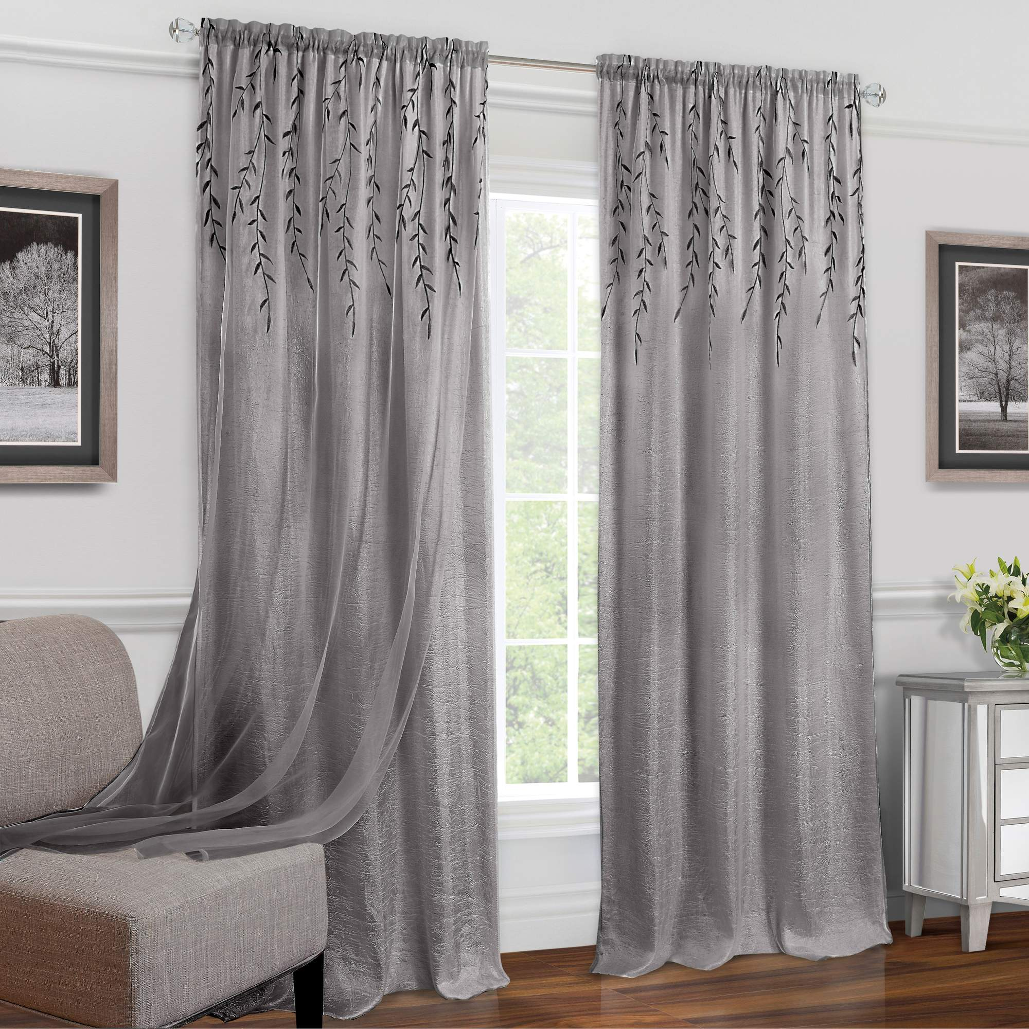 Willow Rod Pocket Window Curtain Panel by Achim Importing Co. Inc