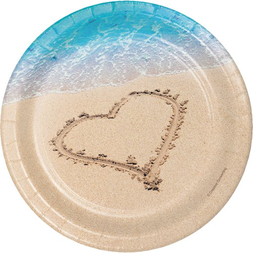 Creative Converting Beach Love Paper Appetizer Plate (Set of 24)