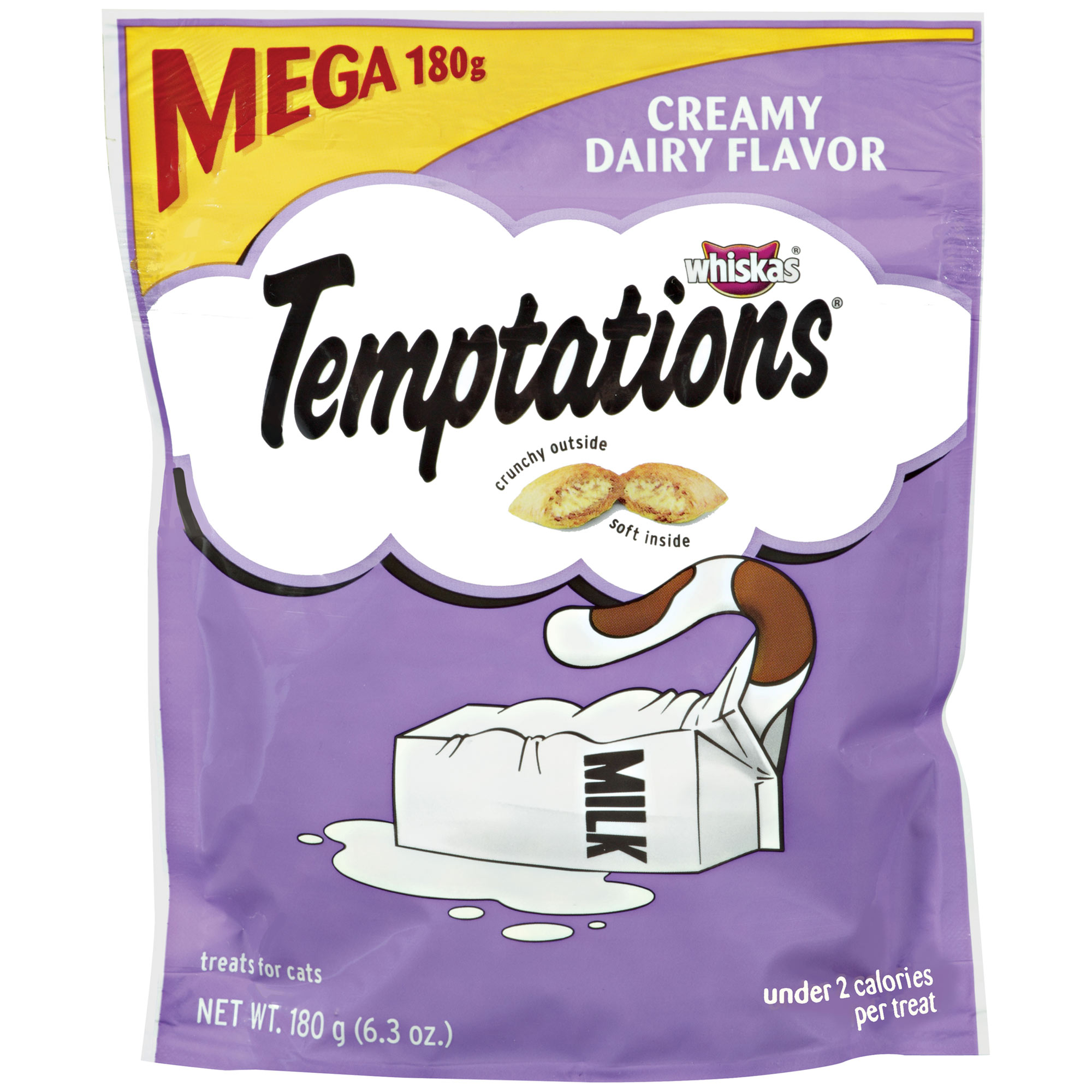 TEMPTATIONS Classic Cat Treats Creamy Dairy Flavor, 6.3 oz. Pouch