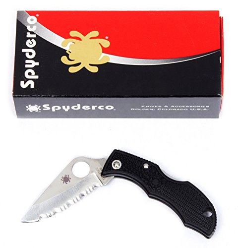 Spyderco LBKS3 Ladybug 3, Black FRN Handle, Serrated