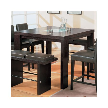 Global furniture usa huntington tall dining room table for Dining room tables walmart