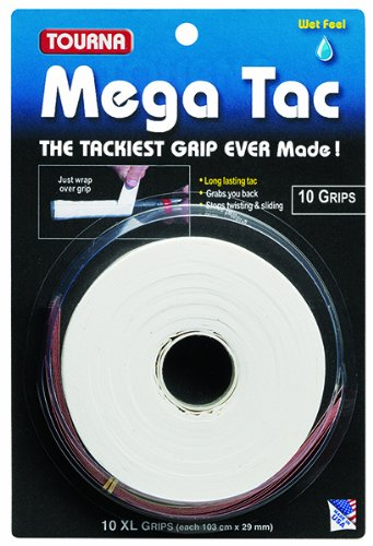 Mega Tac Tennis Racket Grip, Pouch Inche Badminton Premium Black your Racket nonslip... by