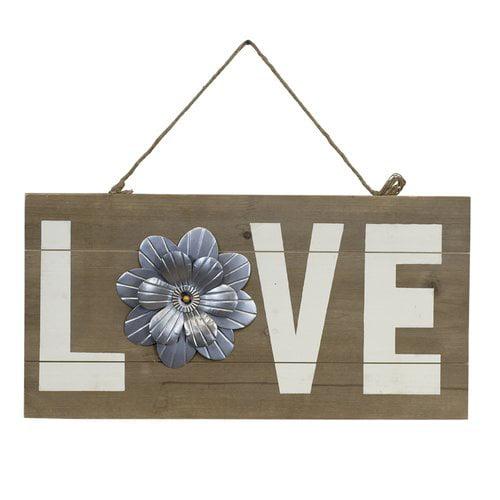 Vintage Wooden Signs Home Decor: Gracie Oaks Vintage Wooden Love Sign Wall Decor