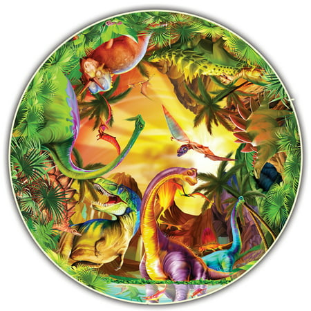 Image of A Broader View's Kids' Round Table - Dinos by Michael Searle (50-piece)
