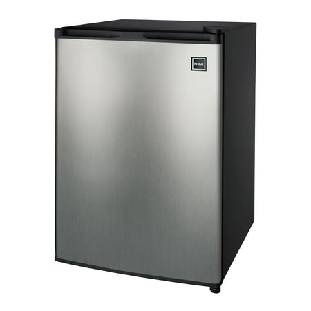 RCA 2.6 Cu Ft Single Door Mini Fridge RFR283, Stainless Steel