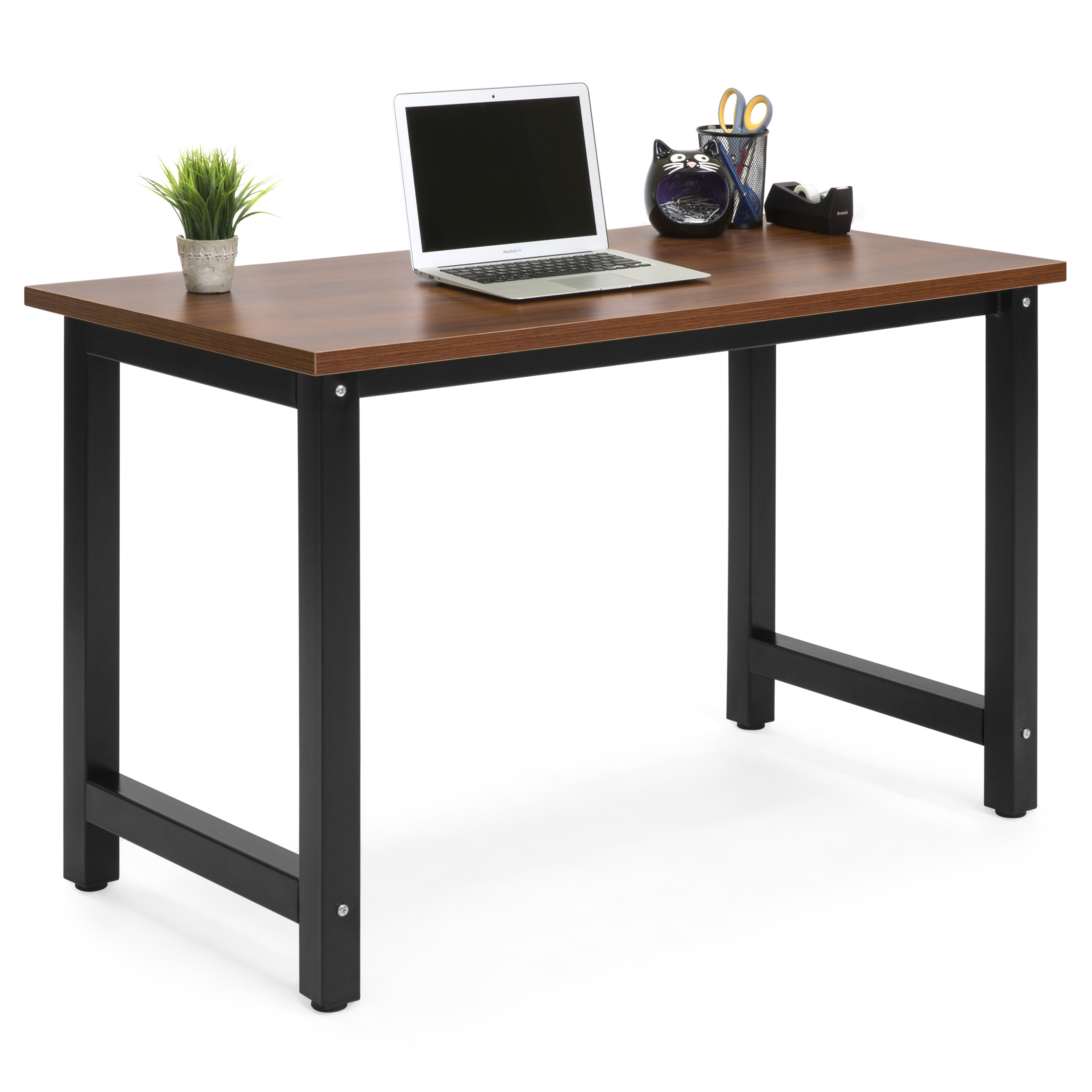 Ordinaire Best Choice Products Large Modern Computer Table Writing Desk Workstation  For Home And Offce   Brown