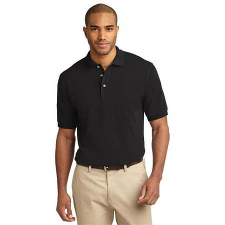 Port Authority® Heavyweight Cotton Pique Polo.  K420 Black 6Xl - image 1 of 1