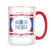 Christmas Cookie Tin Made in the USA Fourth of July Red, White, And Blue Mug gift for Coffee Tea lovers