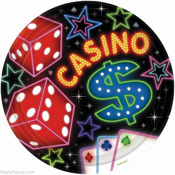 Casino Night Small Paper Plates (8ct)
