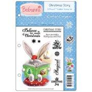 "Bebunni EZMount Cling Stamp Set 5.5""X8.5""-Christmas Story"