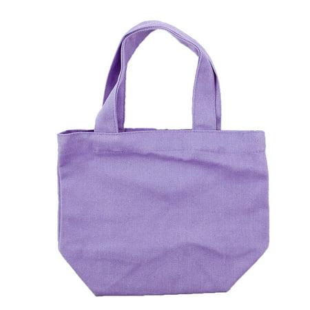 - Travel School Office Cosmetic Lunch Box Holder Sundries Storage Handbag Canvas Tote Bag Purple