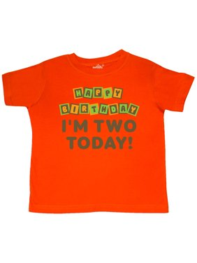 Happy 2nd Birthday I'm Two Childs Toddler T-Shirt