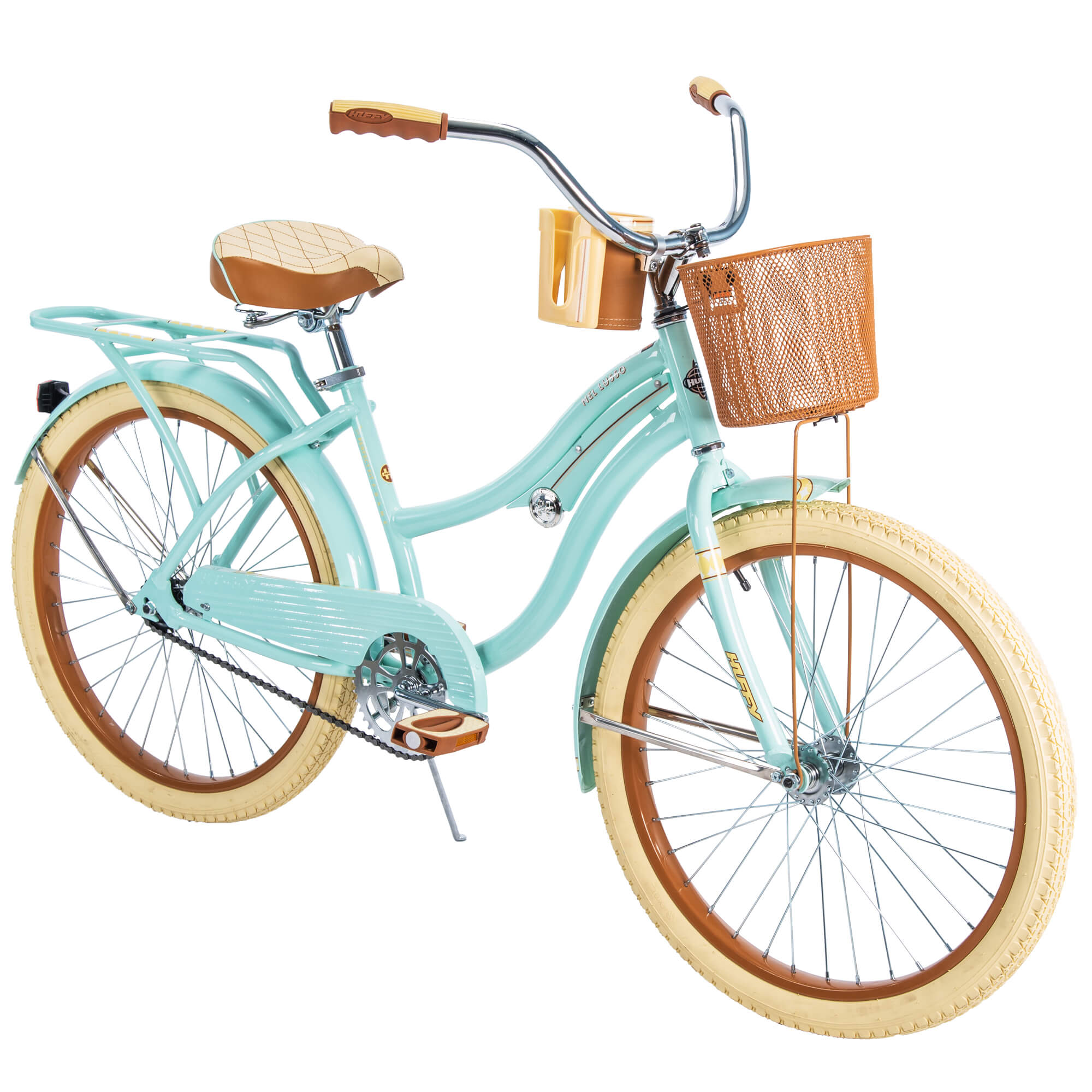 "Huffy 24"" Nel Lusso Girls' Cruiser Bike with Perfect Fit Frame, Mint Green"