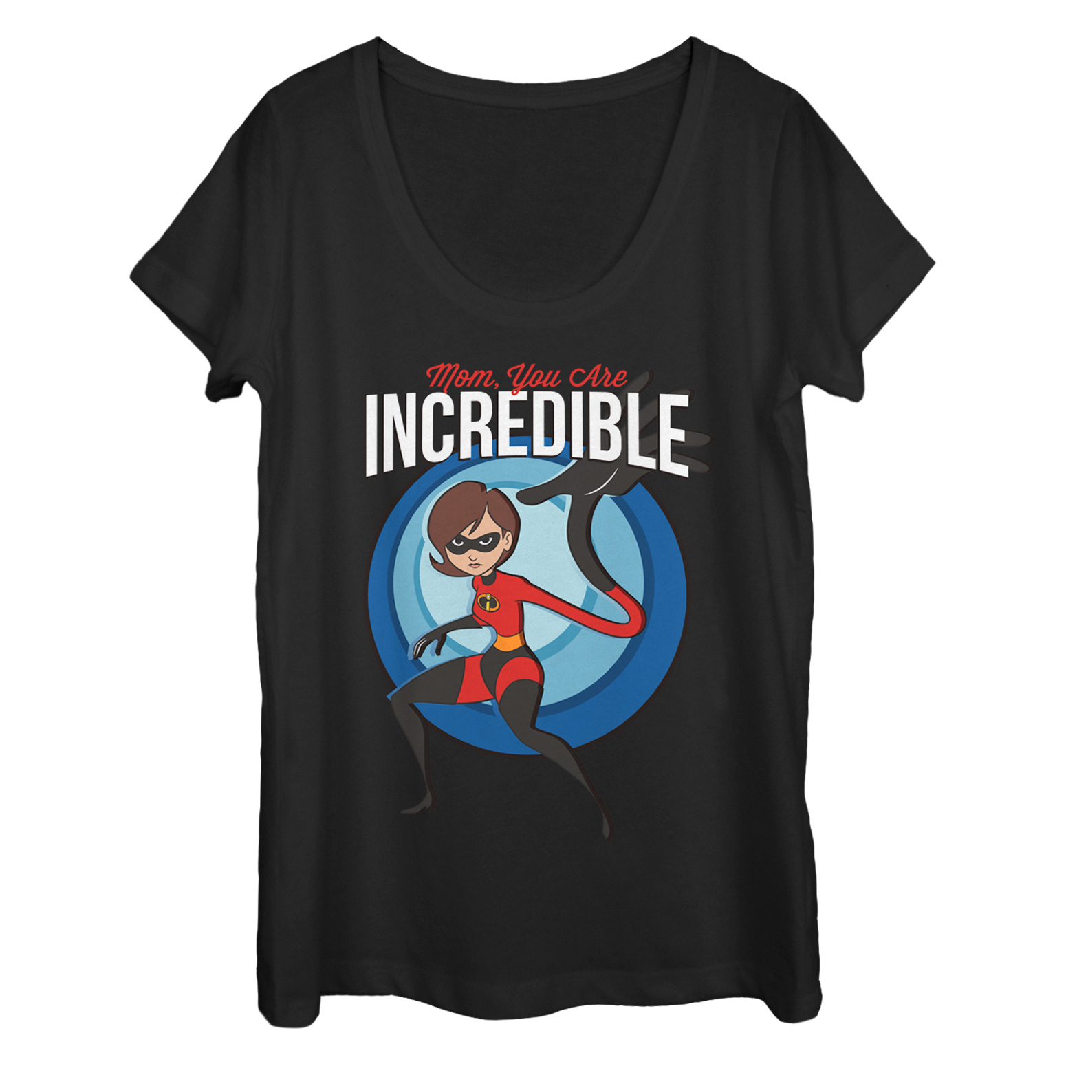 The Incredibles 2 Women's Mom is Incredible Scoop Neck T-Shirt