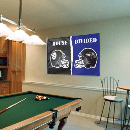 Pittsburgh Steelers vs. Baltimore Ravens WinCraft 3' x 5' House Divided One-Sided Flag - No Size