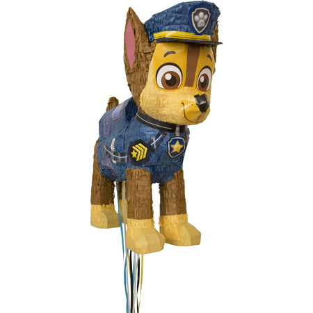Chase PAW Patrol Pinata, Pull String, 18 x 15 in, 1ct - Winter Wonderland Pinata