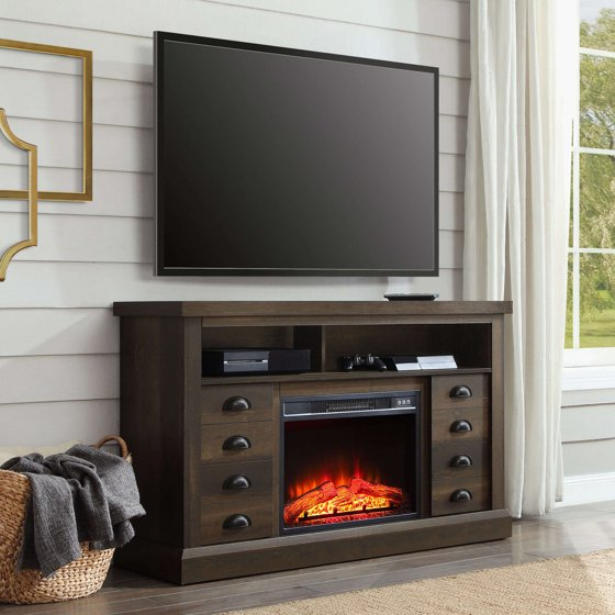 Better Homes And Gardens Granary Modern Farmhouse Fireplace Console Television Stand For Tvs Up