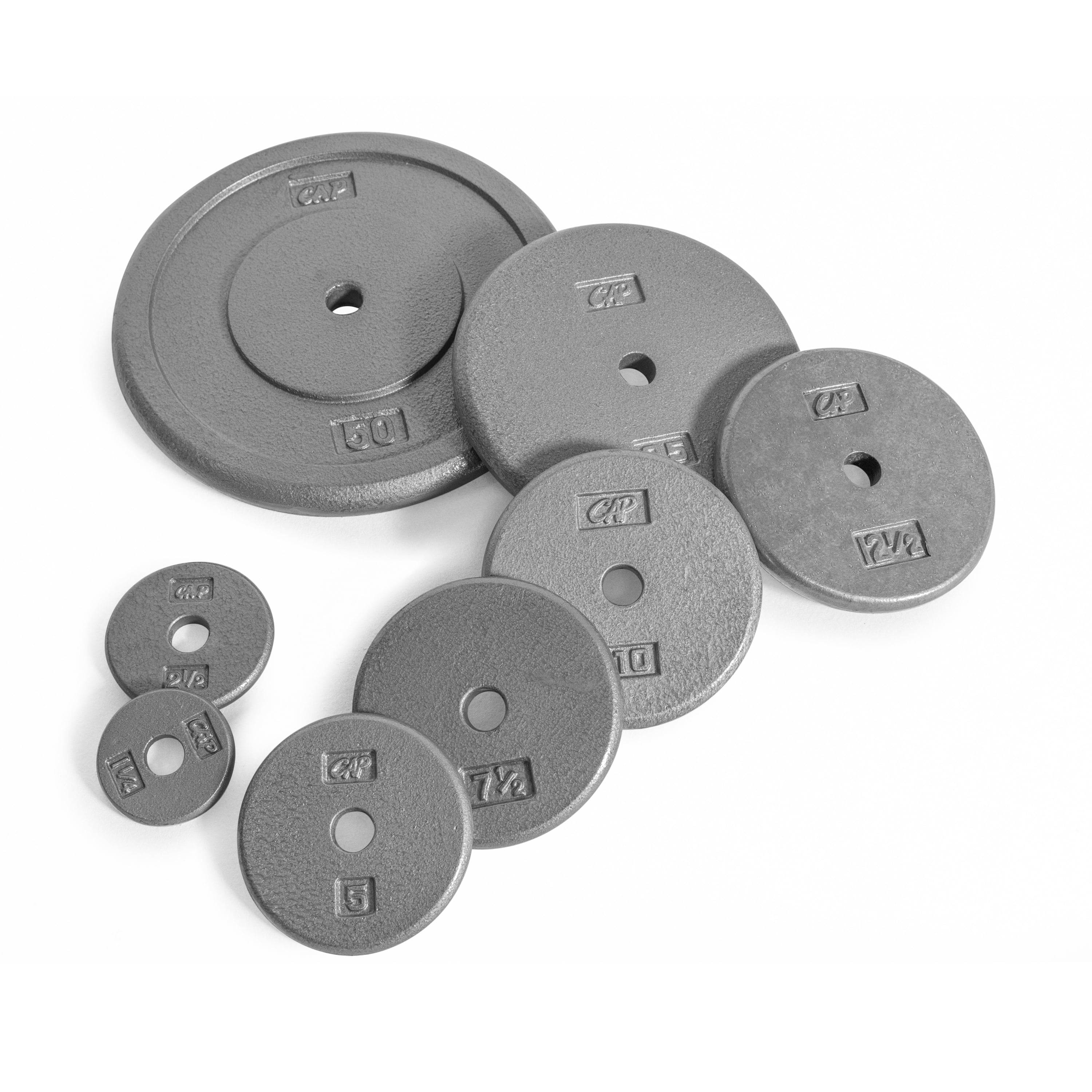Cast Iron Weight Plates 1 inch Standard Fitness Disc Use with Barbell Curl Bar Dumbbells Weight Training Plates