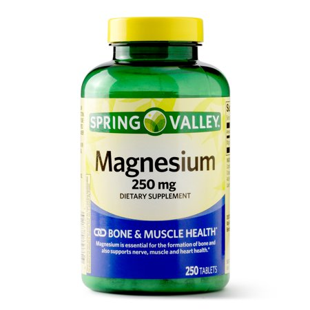 Spring Valley Magnesium Tablets, 250 mg, 250 Ct (Best Magnesium For Heart Health)