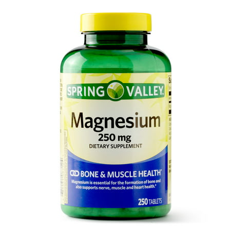 Spring Valley Magnesium Tablets, 250 mg, 250 Ct - Walmart.com