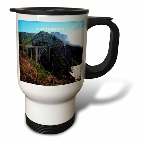 3dRose Pacific Coast Highway At Big Sur California, Travel Mug, 14oz, Stainless Steel Big Sur Coast Highway