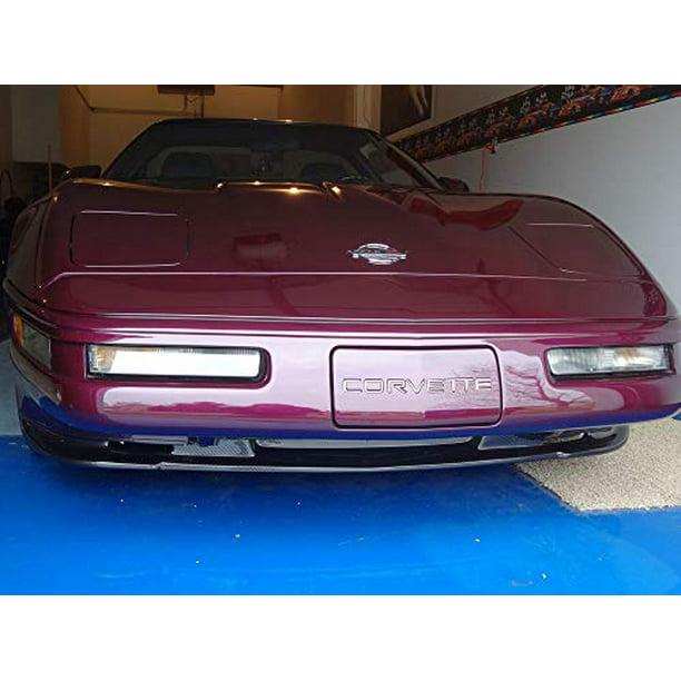 Bdtrims Front Rear Bumper Plastic Letters Inserts Set Fits 1991 1996 Corvette C4 Models White Walmart Com Walmart Com