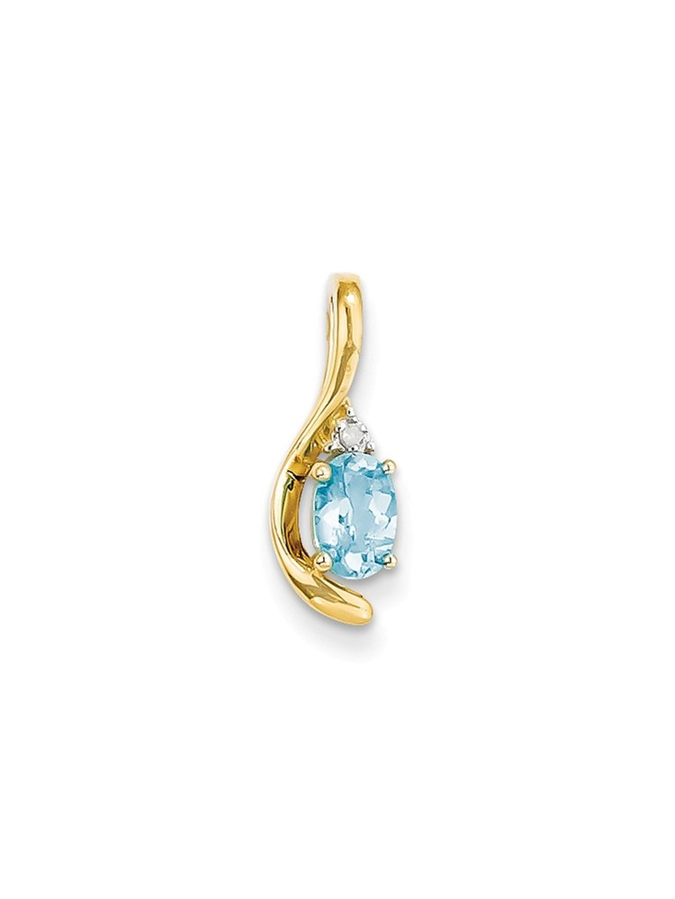 ICE CARATS ICE CARATS 14kt Yellow Gold Diamond Blue Topaz Pendant Charm Necklace Gemstone Birthstone December Set Style... by IceCarats Designer Jewelry Gift USA
