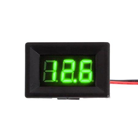 - Baywell 2.5-30V 2 Wires LED Digital Voltmeter Mini Voltage Meter Ammeter Panel 0.36