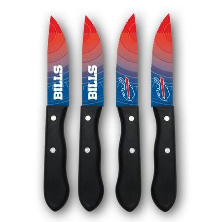 Buffalo Bills Woodrow 4-Piece Stainless Steel Steak Knife Set - No (Buffalo Steak)