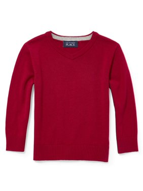 60a8fa749 Product Image Baby And Toddler Boys Long Sleeve Solid V-Neck Sweater