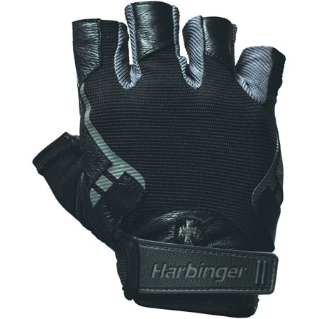 Harbinger Pro Non-Wristwrap Weightlifting Gloves with Vented Cushioned Leather Palm (Pair),