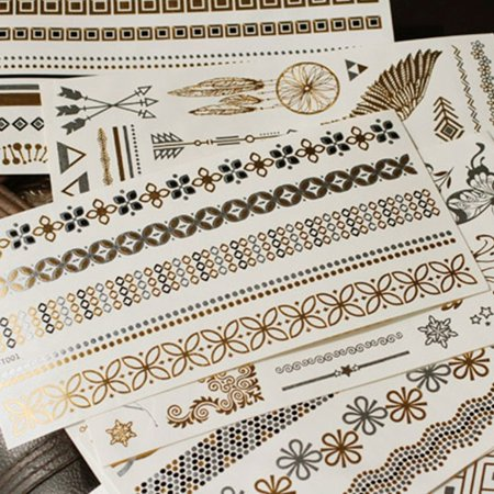 Gold Bronzing Waterproof Wedding Bride Bridesmaids Tattoo Stickers for Temporary Bachelor Party Women Body Wrist Decorations - image 2 of 9