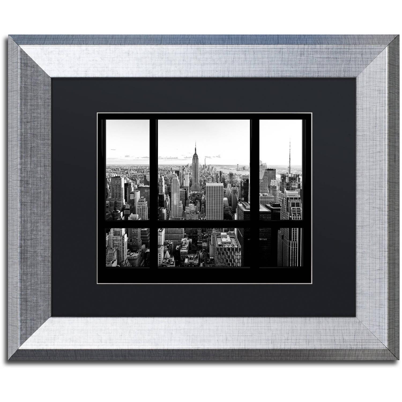 "Trademark Fine Art ""View of New York City"" Canvas Art by Philippe Hugonnard, Black Matte, Silver Frame"
