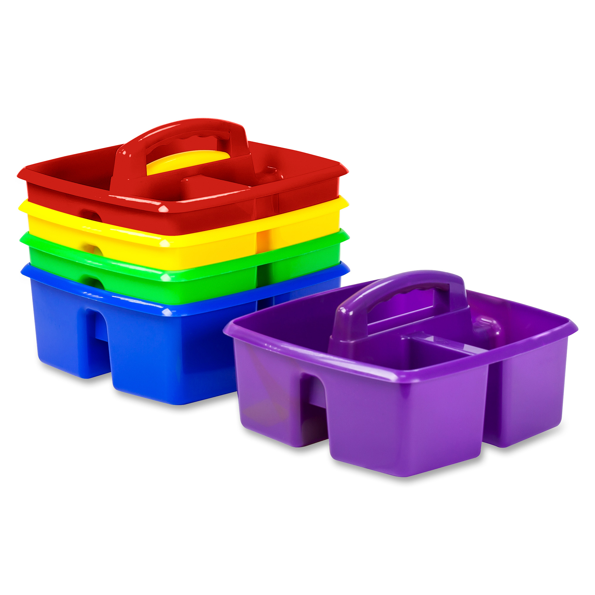 Storex Classroom Caddy, Set of 5, Assorted Colors, Plastic