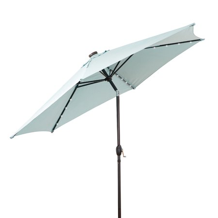632c331cf379 Better Homes and Gardens 10 ft. Solar Lighted Umbrella, Aquifer ...