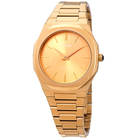 D1 Milano Ultra Thin Gold Dial Gold-tone Ladies Watch A-UTBL03