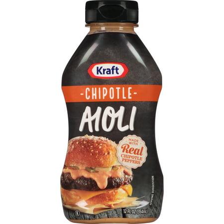 (3 Pack) Kraft Mayo Chipotle Aioli, 12 Fl Oz Bottle