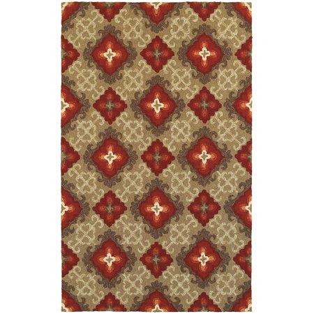 Tommy Bahama Area Rugs: Atrium 51109 Brown Diamonds Crosses Contemporary Carpet ()