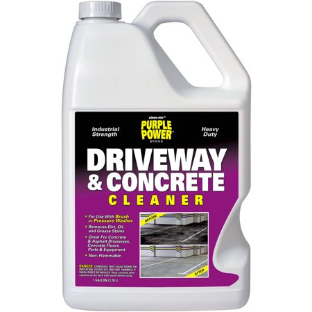 Purple power driveway and concrete cleaner gallon for Best rated concrete cleaner