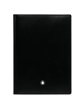 Montblanc MB-35285 Meisterstuck international passport holder black leather