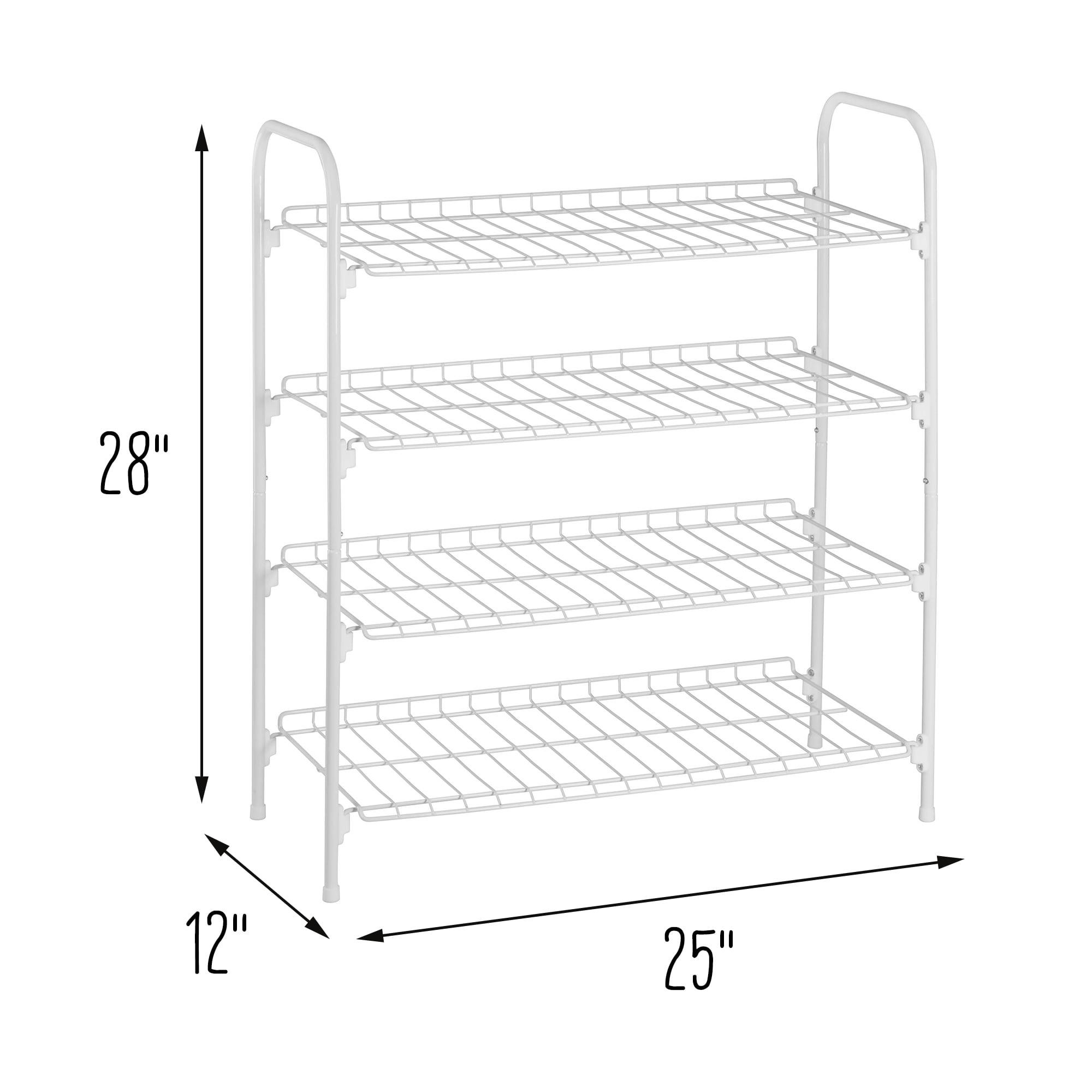 4 Tier Wire Shoe And Accessory Shelf