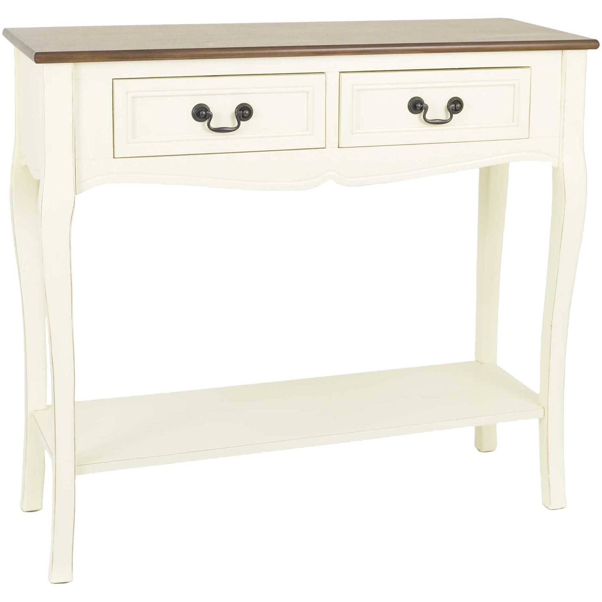 Better Homes And Gardens Two Tone 2 Drawer Console Table, Multiple Colors    Walmart.com