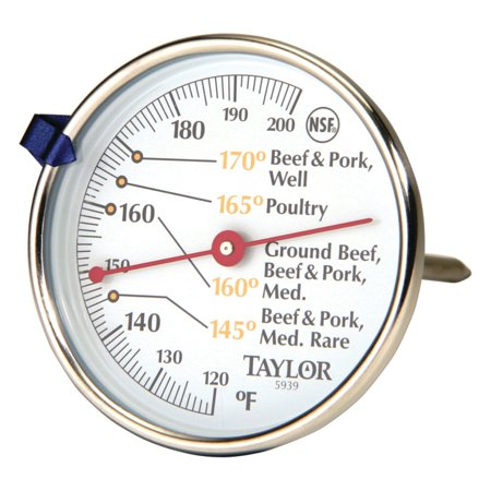 Read Dial Thermometer - Taylor 5939N Meat Dial Thermometer