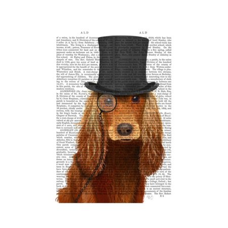 Cocker Spaniel, Formal Hound and Hat Print Wall Art By Fab - Water Spaniel Dog Art