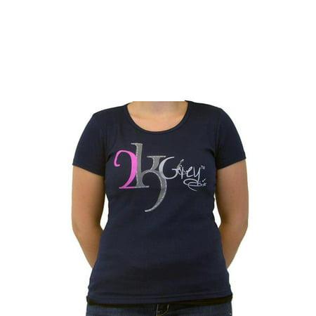 2kGrey 2K905XL Ladies Logo Tee Shirt, Navy - Extra Large - image 1 de 1