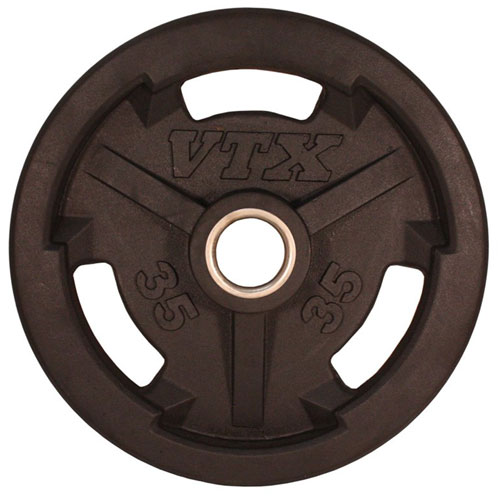 VTX by Troy Barbell 35 lbs Olympic Rubber Grip Plate