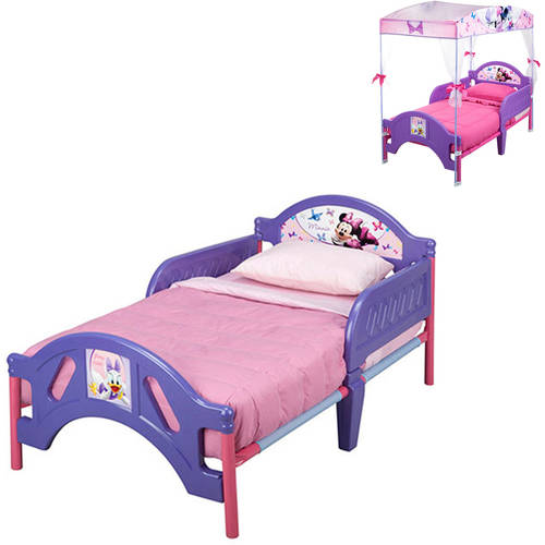 Disney Minne Mouse Toddler Bed and Bedding Value Bundle